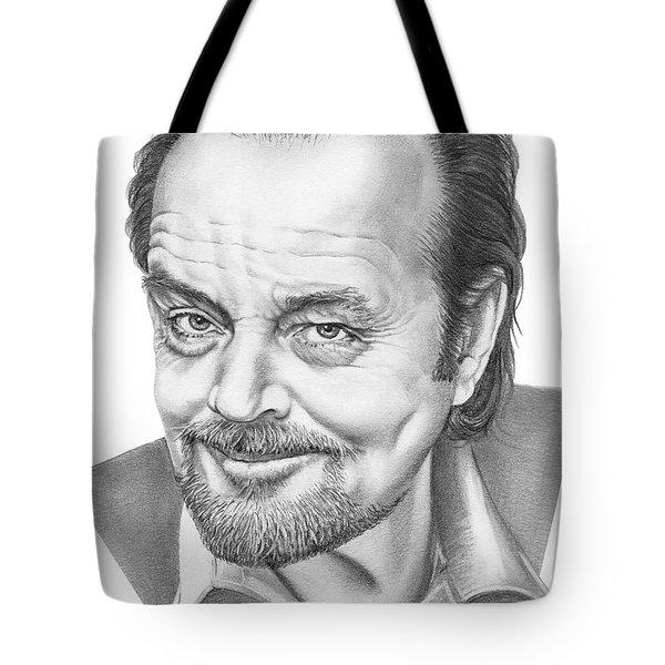 Jack Nickolson  Tote Bag by Murphy Elliott