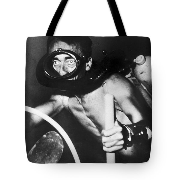 Jacques Cousteau (1910-1997) Tote Bag by Granger