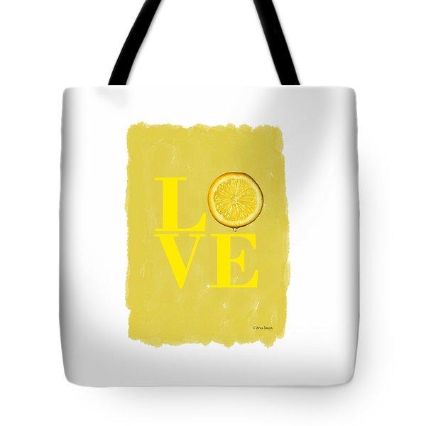 Lemon Tote Bag by Mark Rogan