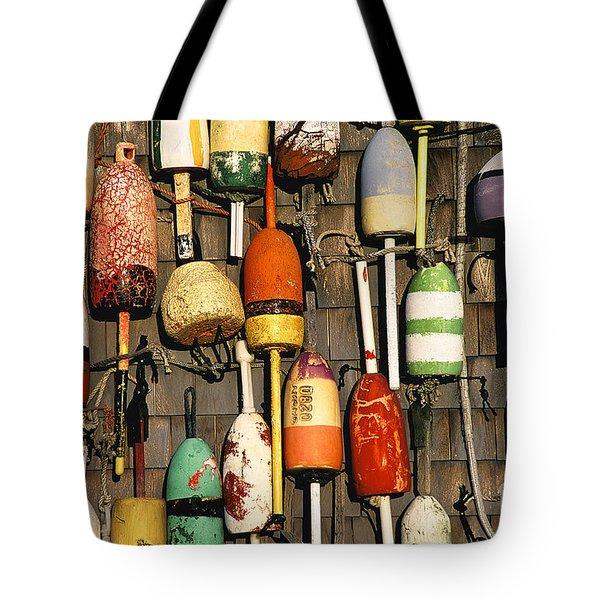 Lobster Buoys. Tote Bag by John Greim