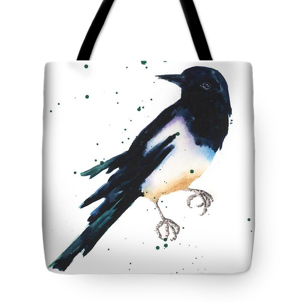 Magpie Painting Tote Bag by Alison Fennell