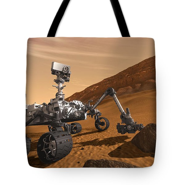 Mars Rover Curiosity, Artists Rendering Tote Bag by NASA/Science Source