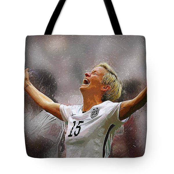 Megan Rapinoe Tote Bag by Semih Yurdabak