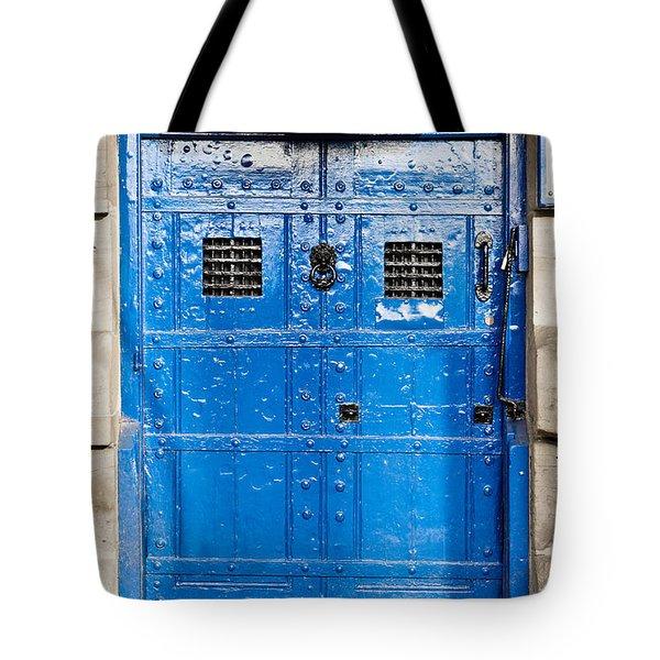 Old Blue Door Tote Bag by Tom Gowanlock