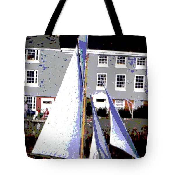 Oyster Boats Tote Bag by Brian Roscorla