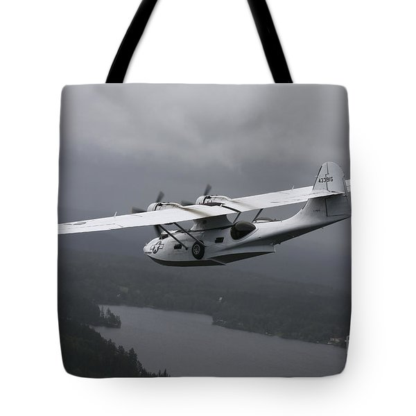 Pby Catalina Vintage Flying Boat Tote Bag by Daniel Karlsson