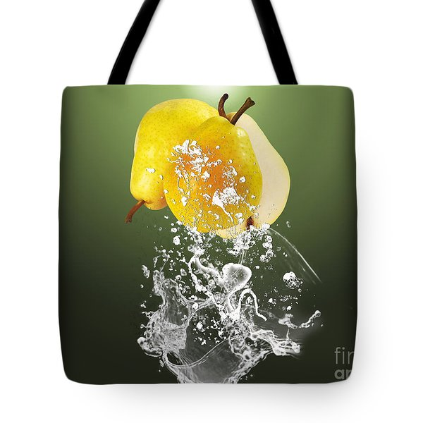 Pear Splash Collection Tote Bag by Marvin Blaine