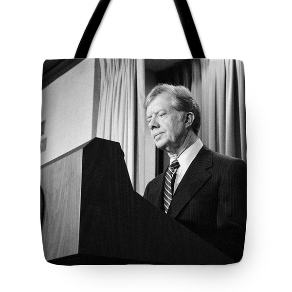 President Jimmy Carter Tote Bag by War Is Hell Store