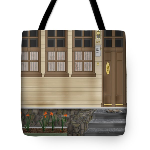 Rags On The Front Steps Tote Bag by Anne Norskog