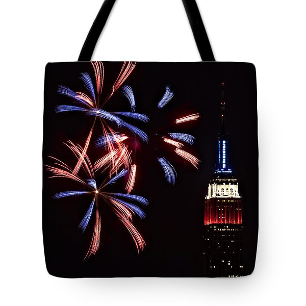 Red White And Blue Tote Bag by Susan Candelario