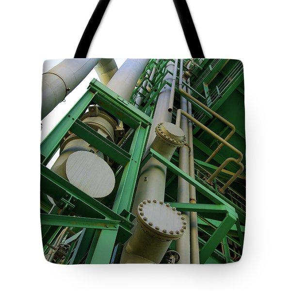 Refinery Detail Tote Bag by Carlos Caetano