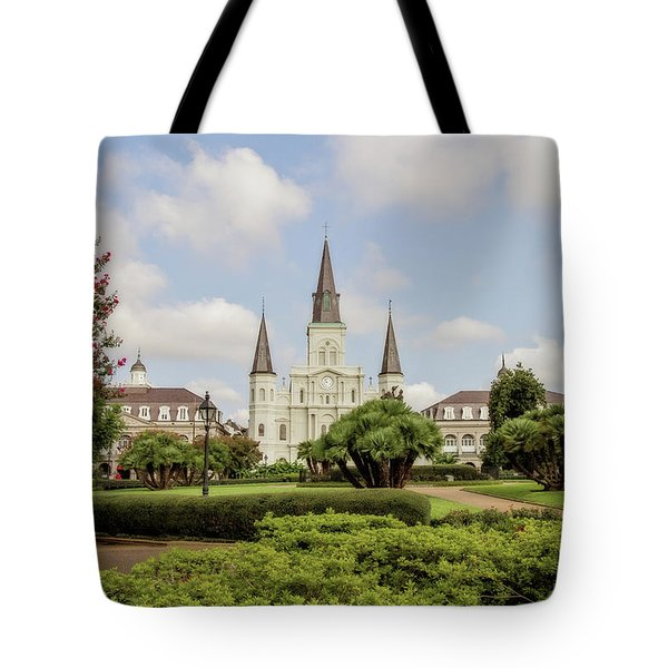 St. Louis Cathedral Tote Bag by Scott Pellegrin