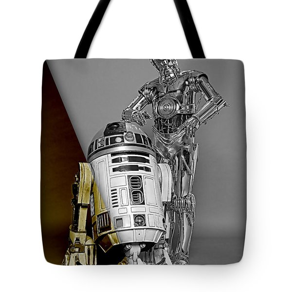Star Wars C3po And R2d2 Collection Tote Bag by Marvin Blaine