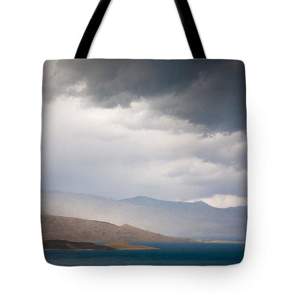 Storm On Karakul Lake Tote Bag by Konstantin Dikovsky