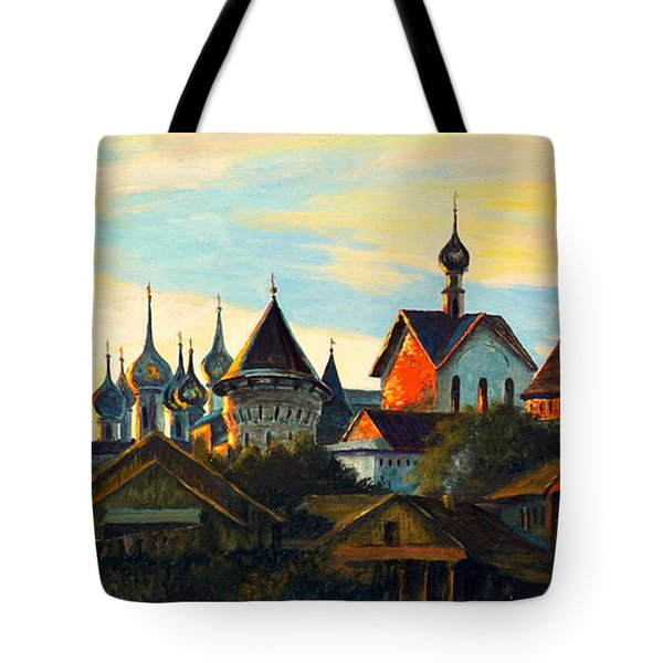 Sunset In Rostov Tote Bag by Henryk Gorecki