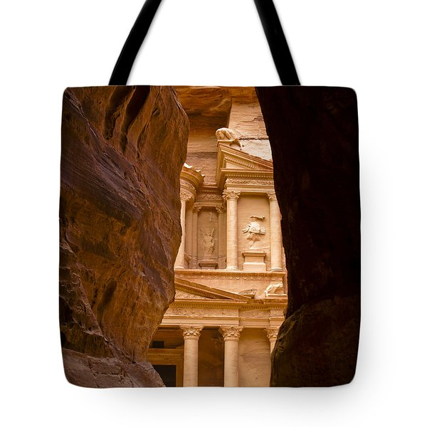 The Treasury Of Petra Tote Bag by Michele Burgess