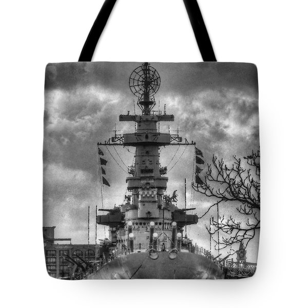 U.s.s. North Carolina Tote Bag by JC Findley