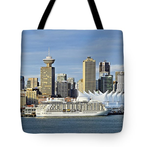 Vancouver skyline Tote Bag by John Greim