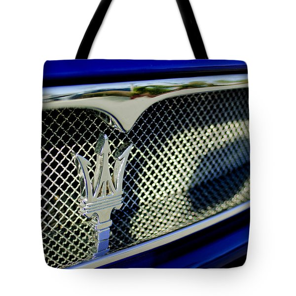 2002 Maserati Hood Ornament Tote Bag by Jill Reger