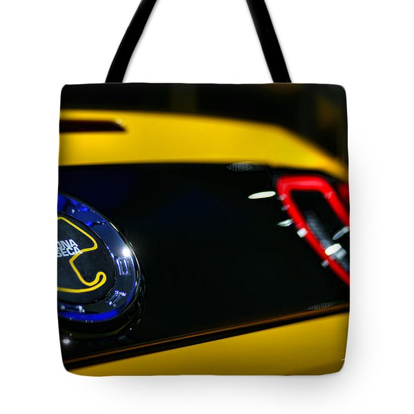 2012 Ford Mustang Boss 302 Laguna Seca Tote Bag by Gordon Dean II