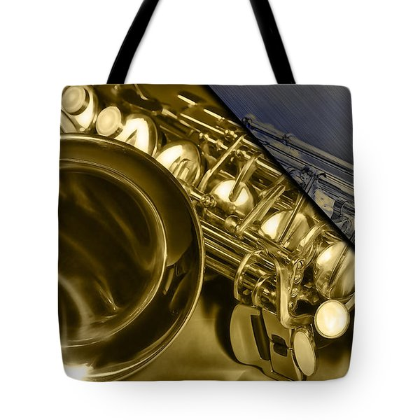 Saxophone Collection Tote Bag by Marvin Blaine