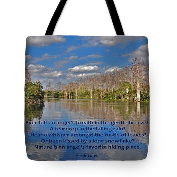 22- An Angel's Breath Tote Bag by Joseph Keane