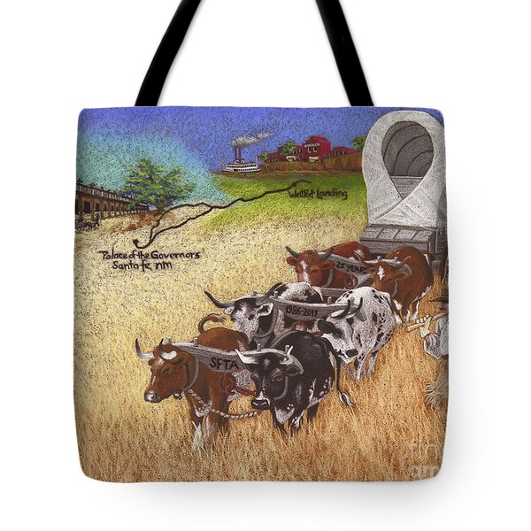 25th Anniversary Santa Fe Trail Association Tote Bag by Tracy L Teeter