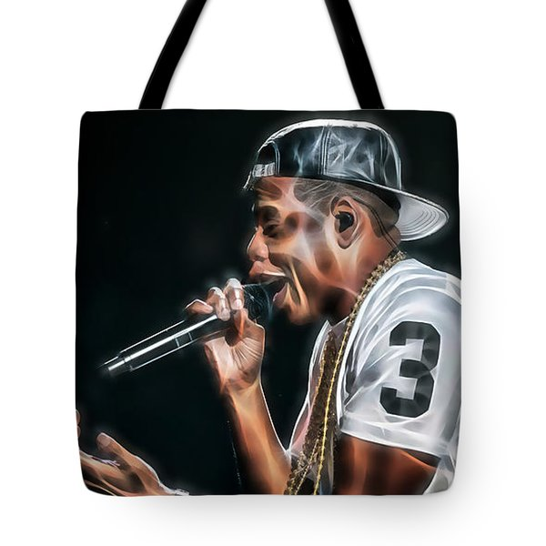 Jay Z Collection Tote Bag by Marvin Blaine