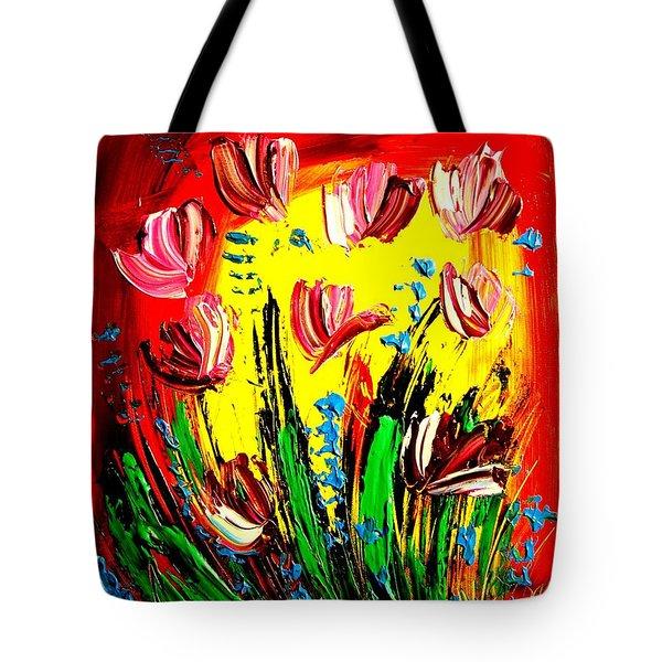 Tulips Tote Bag by Mark Kazav