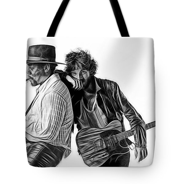 Bruce Springsteen Clarence Clemons Collection Tote Bag by Marvin Blaine