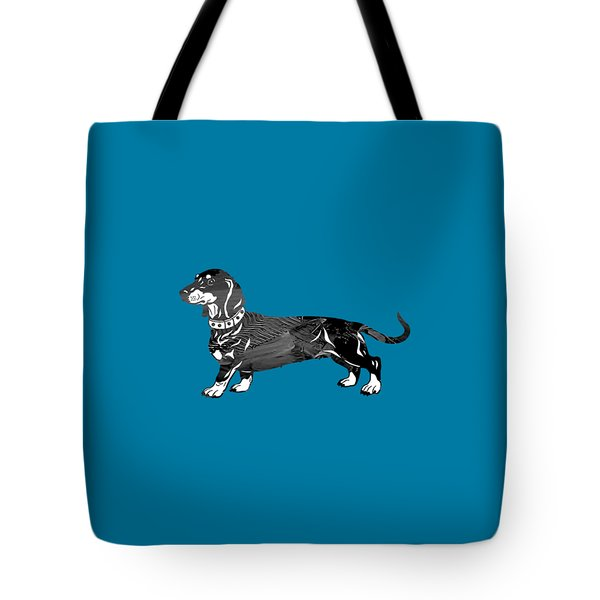 Dachshund Collection Tote Bag by Marvin Blaine