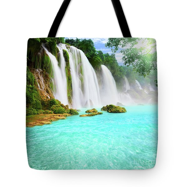 Detian Waterfall Tote Bag by MotHaiBaPhoto Prints