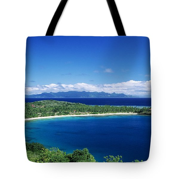Fiji Wakaya Island Tote Bag by Larry Dale Gordon - Printscapes
