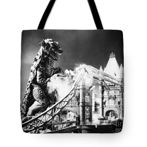 Godzilla Tote Bag by Granger
