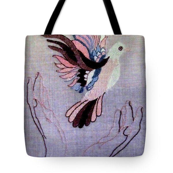 Needle Craft Tote Bag by Joyce Woodhouse
