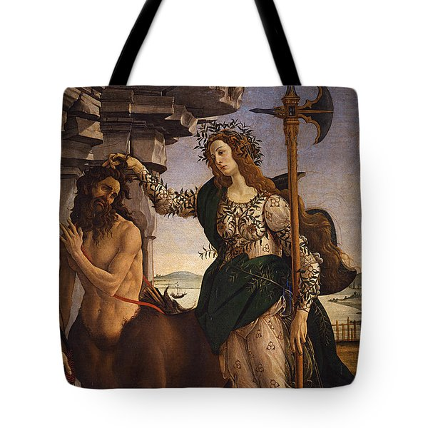 Pallas And The Centaur Tote Bag by Sandro Botticelli