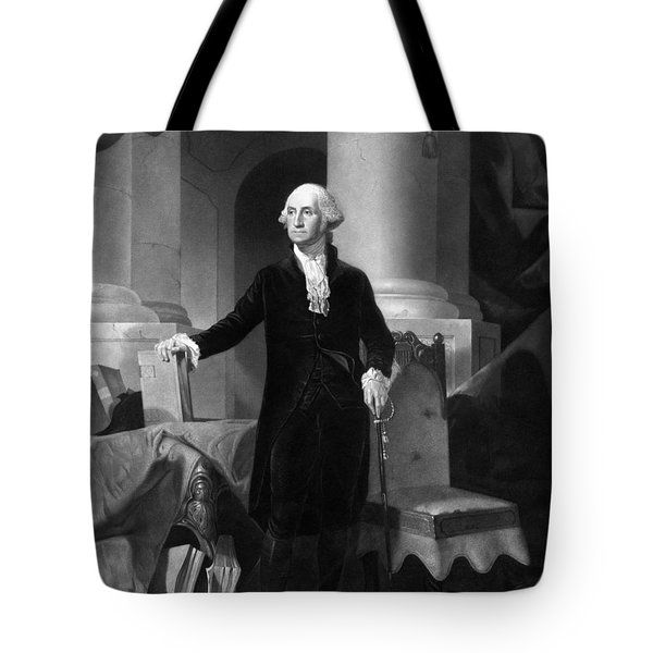 President George Washington  Tote Bag by War Is Hell Store