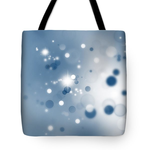 Starry Background Tote Bag by Les Cunliffe