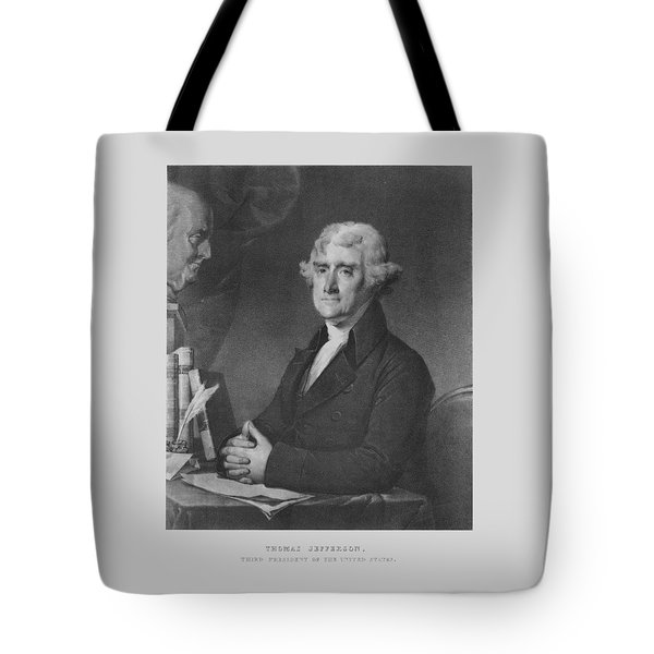 Thomas Jefferson Tote Bag by War Is Hell Store