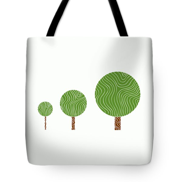3 Trees Tote Bag by Frank Tschakert