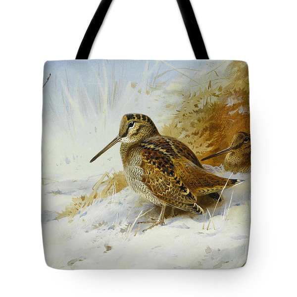 Winter Woodcock Tote Bag by Archibald Thorburn