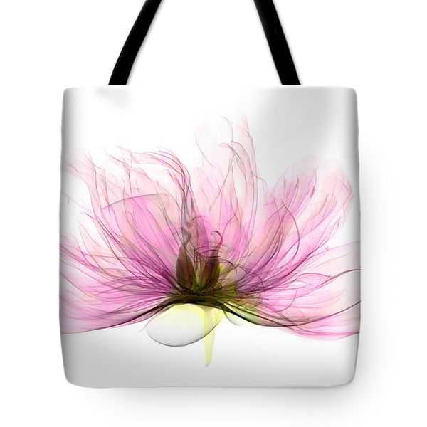 X-ray Of Peony Flower Tote Bag by Ted Kinsman
