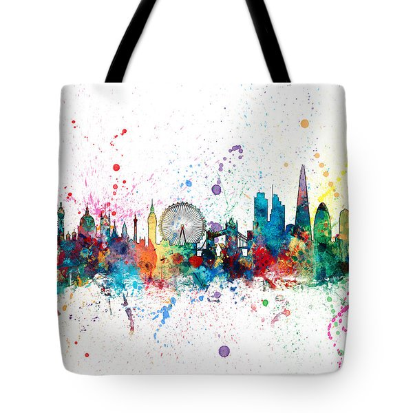 London England Skyline Tote Bag by Michael Tompsett