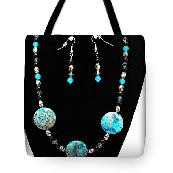 3517 Crazy Lace Agate Set Tote Bag by Teresa Mucha