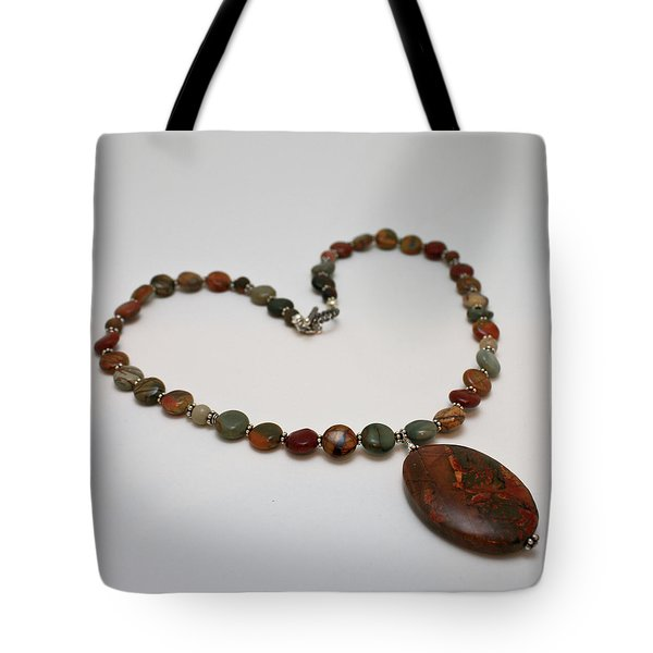 3600 Picasso Jasper Necklace Tote Bag by Teresa Mucha