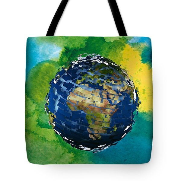 3d Render Of Planet Earth 14 Tote Bag by Lanjee Chee