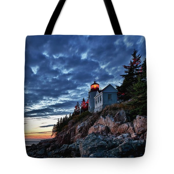 Bass Harbor Lighthouse Tote Bag by John Greim