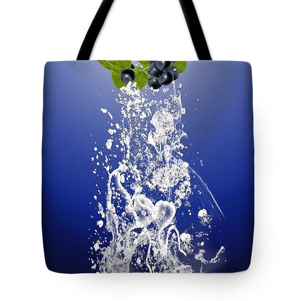 Blueberry Splash Tote Bag by Marvin Blaine