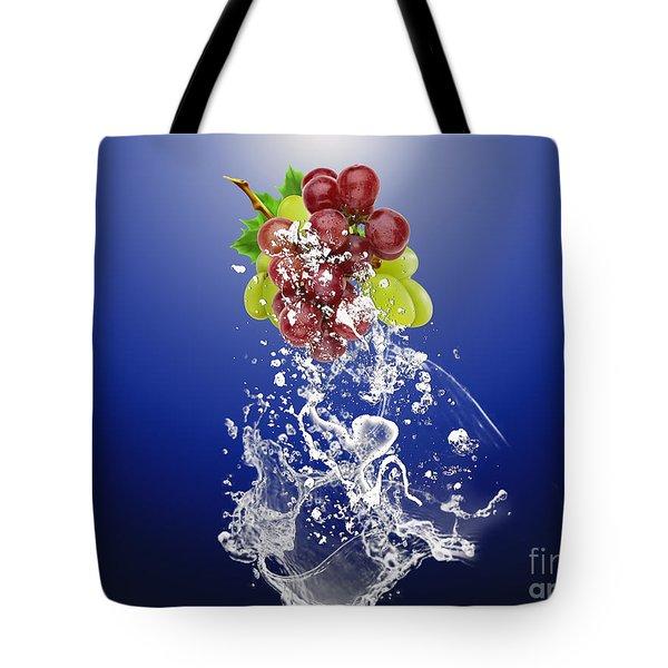 Grape Splash Tote Bag by Marvin Blaine