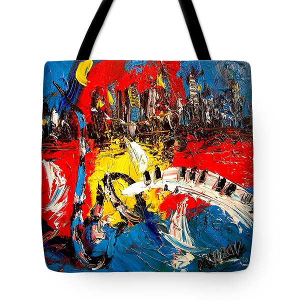 Jazz Tote Bag by Mark Kazav